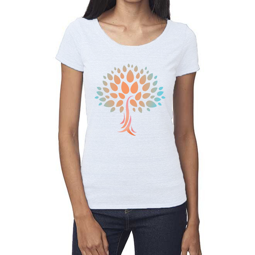 Womens Eco Tee with Wish Yielding Tree Design
