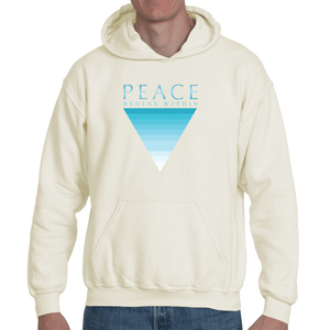 """Peace Begins Within"" Unisex Organic Cotton Hoody Sweatshirt"