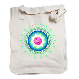 'Ruby Rose Mandala' Organic Cotton Tote