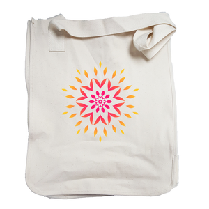 'Orange Sunburst' Organic Cotton Tote