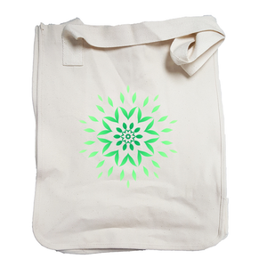 'Green Sunburst' Organic Cotton Tote