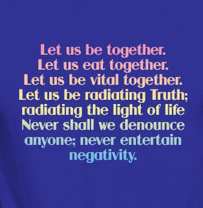 "Unisex Organic Cotton T-Shirt with ""Let Us Be Together"" Design"