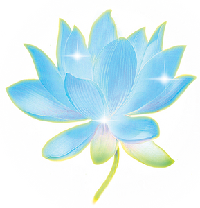 Mug with Blue Lotus Design
