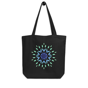 Flower Mandala Blue Eco Tote Bag