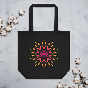 Flower Mandala Red Eco Tote Bag