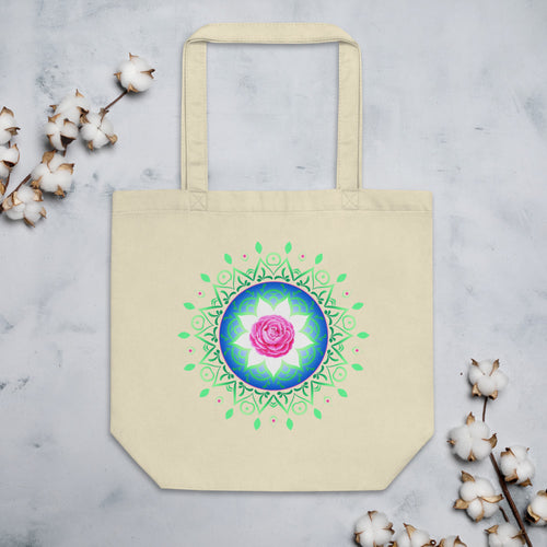 Rose Mandala Eco Tote Bag