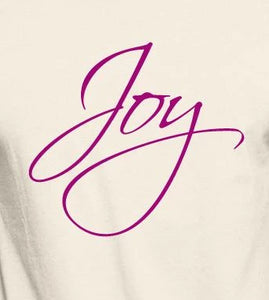 "Unisex Organic Cotton T-Shirt with ""Joy"" Design"
