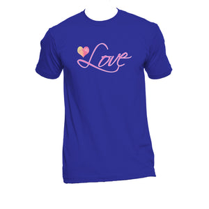 "Unisex Organic Cotton T-Shirt with ""Love"" Design"