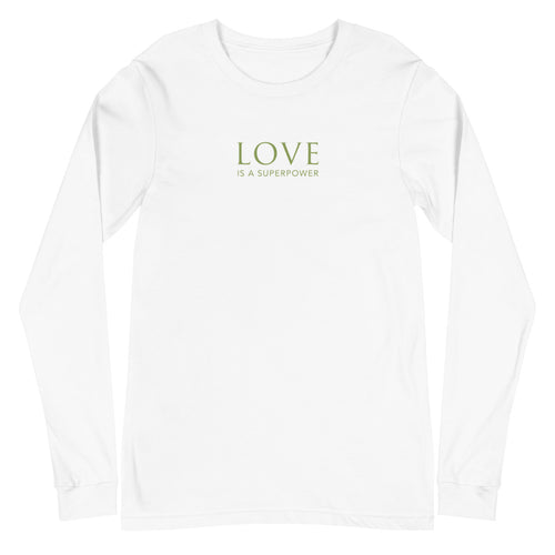 'Love is a Superpower' Unisex Long Sleeve Tee