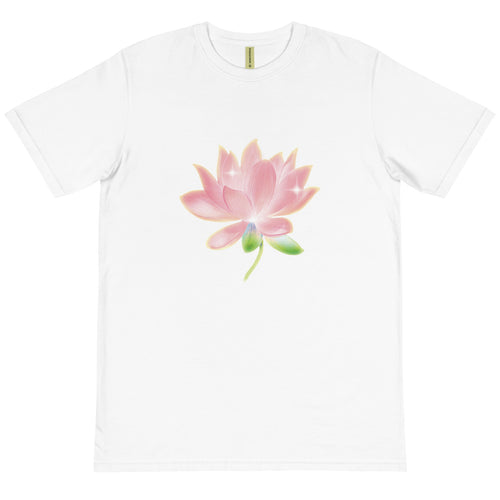 Pink Lotus Organic Cotton Unisex T-Shirt