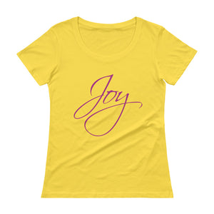 'Joy' Ladies' Scoopneck T-Shirt