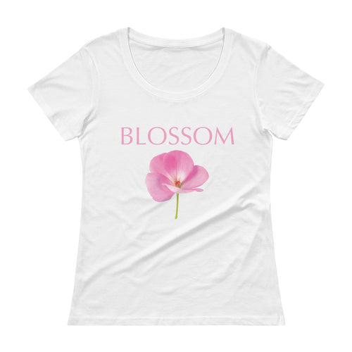 'Blossom' Ladies' Scoopneck T-Shirt