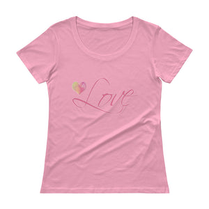 'Love' Ladies' Scoopneck T-Shirt