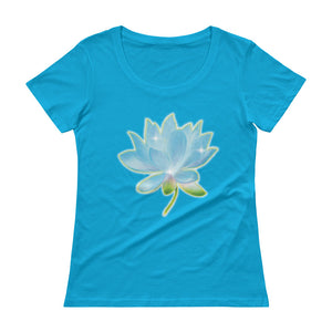 Blue Lotus Ladies' Scoopneck T-Shirt