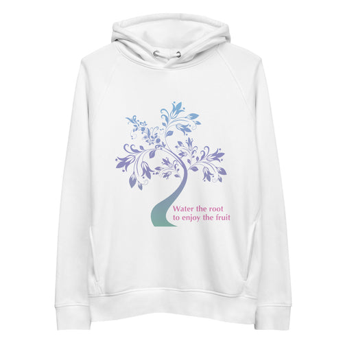 'Water the Root' Unisex organic cotton/recycled Eco pullover hoodie