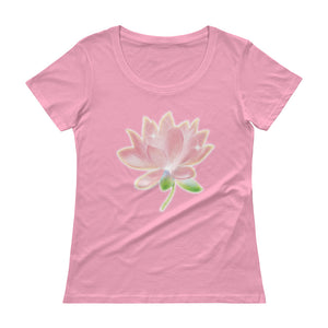 Pink Lotus Ladies' Scoopneck T-Shirt