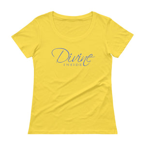 'Divine Inside' 100% Cotton Ladies' Scoopneck T-Shirt