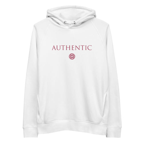 'Authentic' Unisex organic cotton/recycled pullover hoodie