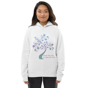 'Water the Root' Unisex organic pullover hoodie