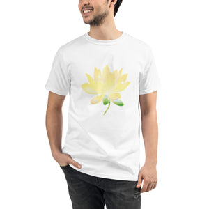 Yellow Lotus Organic Cotton Unisex T-Shirt