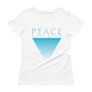 'Peace Begins Within' Ladies' Scoopneck T-Shirt