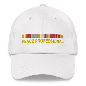 """Peace Professional"" Embroidered Cotton Hat"
