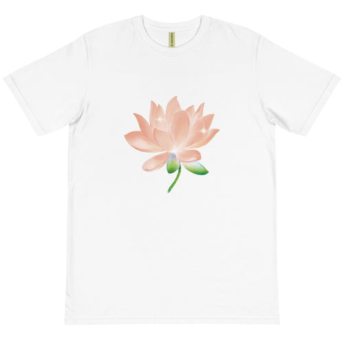 Peach Lotus Unisex Organic Cotton T-Shirt