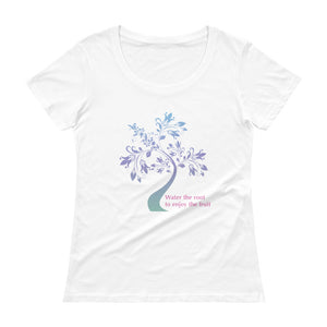 'Water the Root' Ladies' Scoopneck T-Shirt