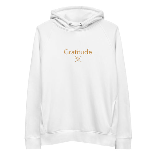 'Gratitude' Unisex organic cotton/recycled Eco pullover hoodie