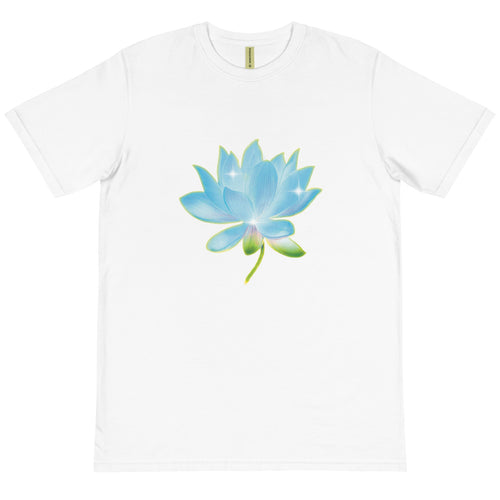Blue Lotus Unisex Organic Cotton T-Shirt