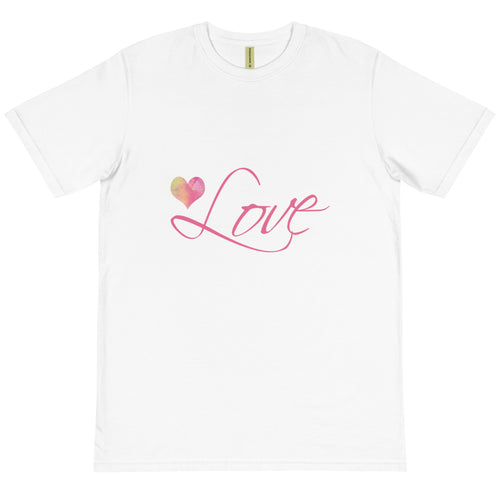 'Love' Organic Cotton Unisex T-Shirt