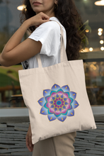 'Blue Rose Mandala' Organic Cotton Tote