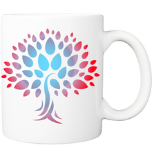Mug with Wish Yielding Tree Design in Red and Turquoise