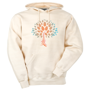 Unisex Organic Cotton Hooded Sweatshirt with Wish Yielding Tree Design