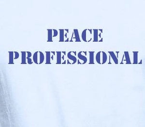 "Unisex Organic Cotton T-Shirt with ""Peace Professional"" Design"