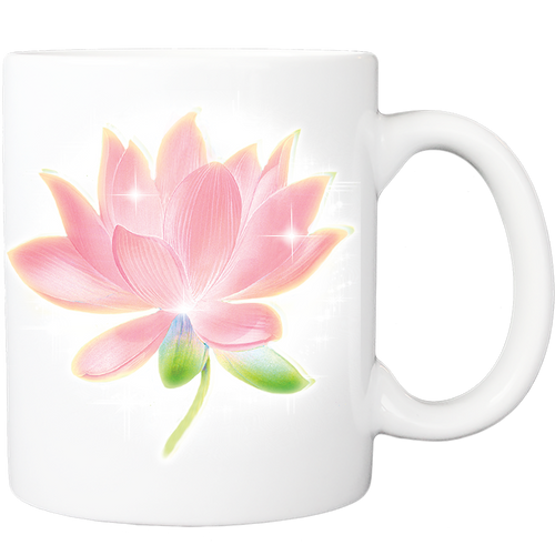 Mug with Pink Lotus Design
