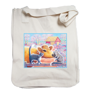 """Priya with Cats"" Organic Cotton Tote"