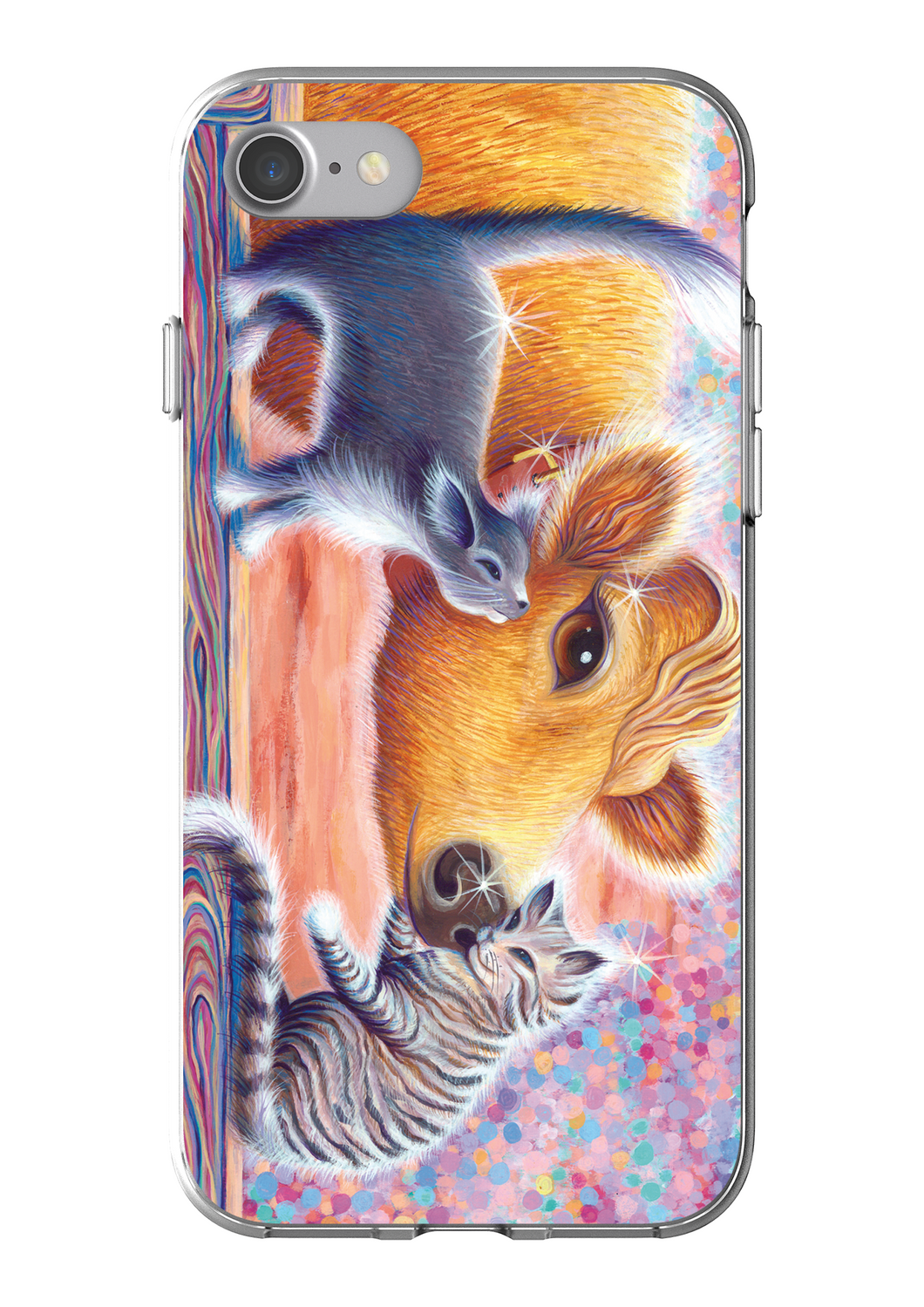 Priya and Cats design iPhone7 Flexi Case