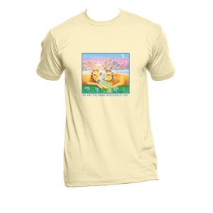 "Unisex Organic Cotton T-Shirt with ""Priya and Vedi"" Design"