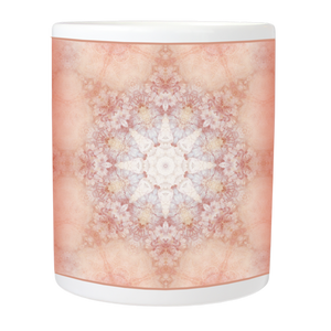 Mug with Rustic Floral Mandala Design