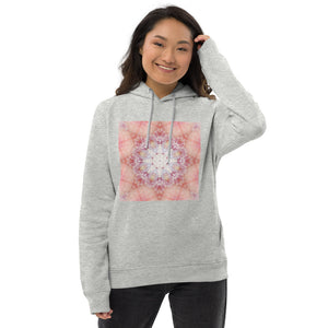Peach Mandala Unisex organic cotton/recycled Eco pullover hoodie