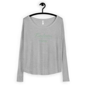 'Kindness is a Superpower' Ladies' Long Sleeve Tee