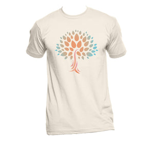 "Unisex Organic Cotton T-Shirt with large ""Wish Yielding Tree"" Design"