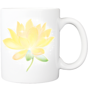 Mug with Yellow Lotus Design
