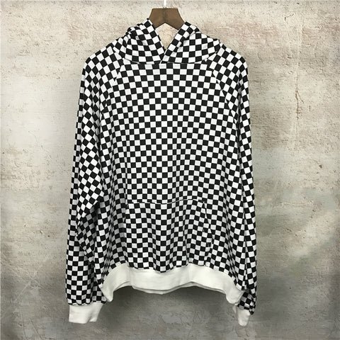 Black & White Checkered Hoody
