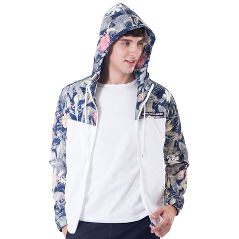 Hooded Floral Printed Jacket