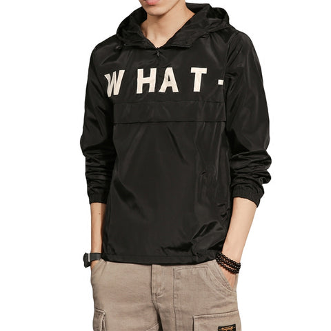 "Casual Pullover ""WHAT"" Jacket"