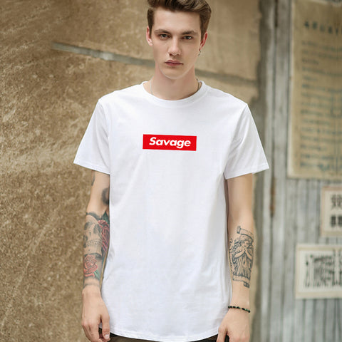 savage box logo tshirt