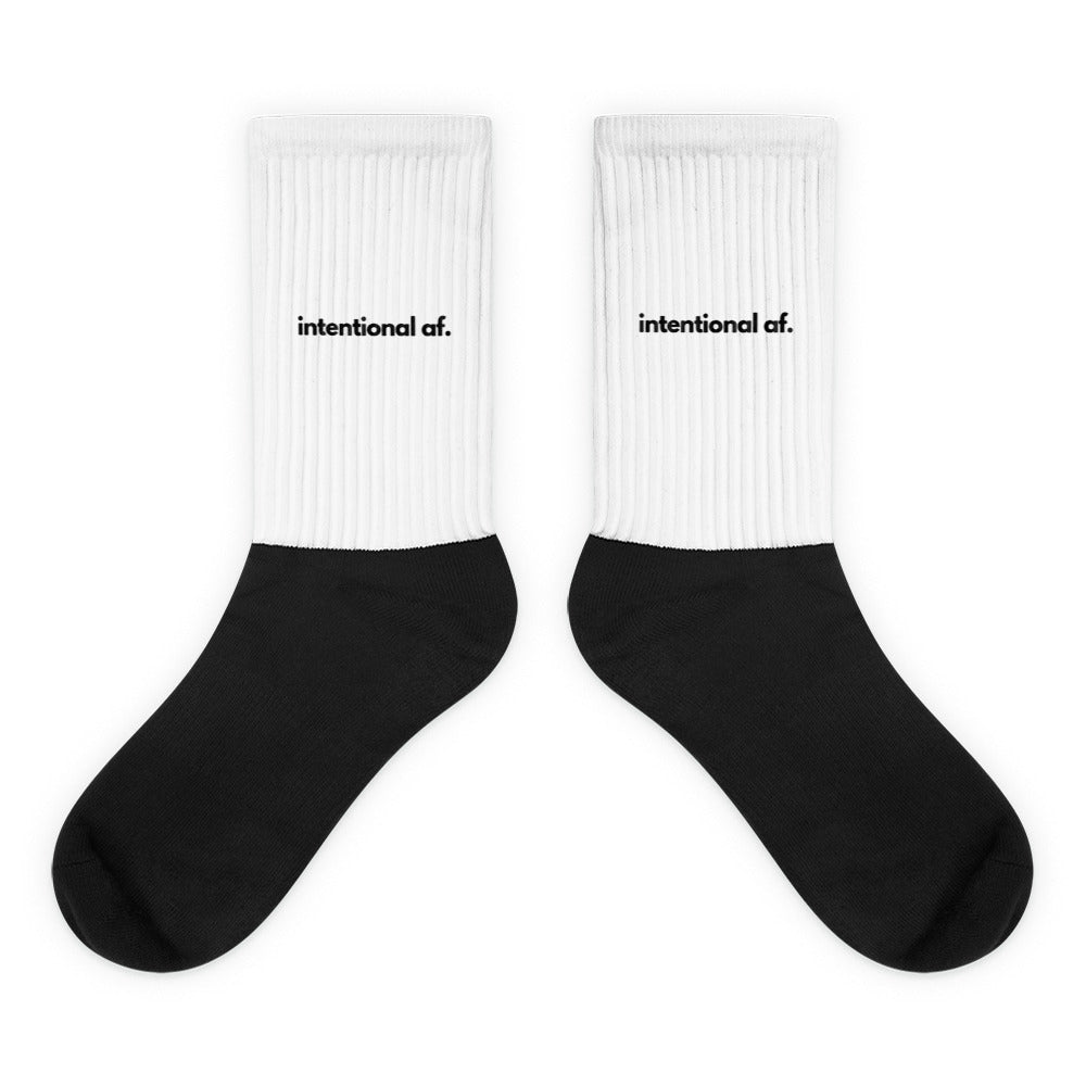 intentional af unisex socks