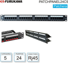 Patch Panel 24P FURUKAWA Cat5e T-568A/B